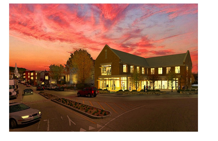 An architectural rendering of the proposed town offices. - COURTESY OF TOWN OF MIDDLEBURY