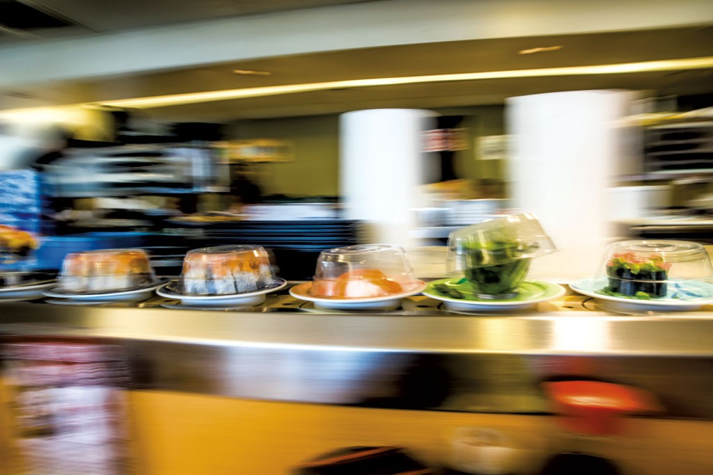 An example of conveyor-belt sushi - DREAMSTIME.COM, OLIVER7PEREZ