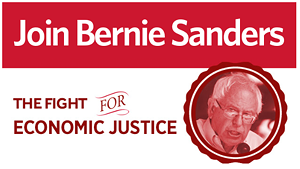 An online advertisement for Sanders' southern tour