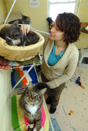 JEB WALLACE-BRODEUR - Anne Ros at the Central Vermont Humane Society