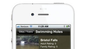 App Review: VT Swimming Holes