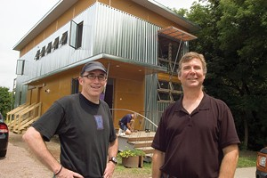 MATTHEW THORSEN - Architect Christian Brown and owner Kirk Williams