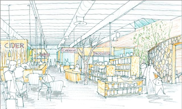 Artist rendering of the Northeast Kingdom Tasting Center