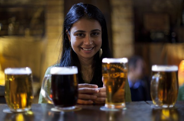 Asha samples the best beers Prague has to offer. - PAPER CHAIN PRODUCTIONS