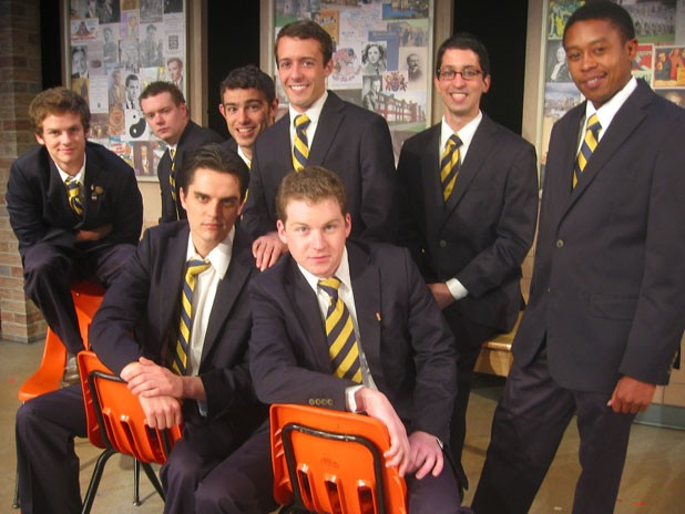 Back row, left to right: Matthew Johnson,  Justin Fuller, Ben Starr, Trey Mitchell,  Armand Valdes, Michael Kudakwashe.  Front row, left to right: Matt Jared, Andrew Pandaleon