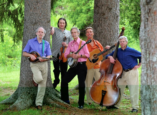 Banjo Dan and the Mid-nite Plowboys, current. R to L: Willy Lindner, Phil Bloch, Dan Lindner, Al Davis, Jon Drake