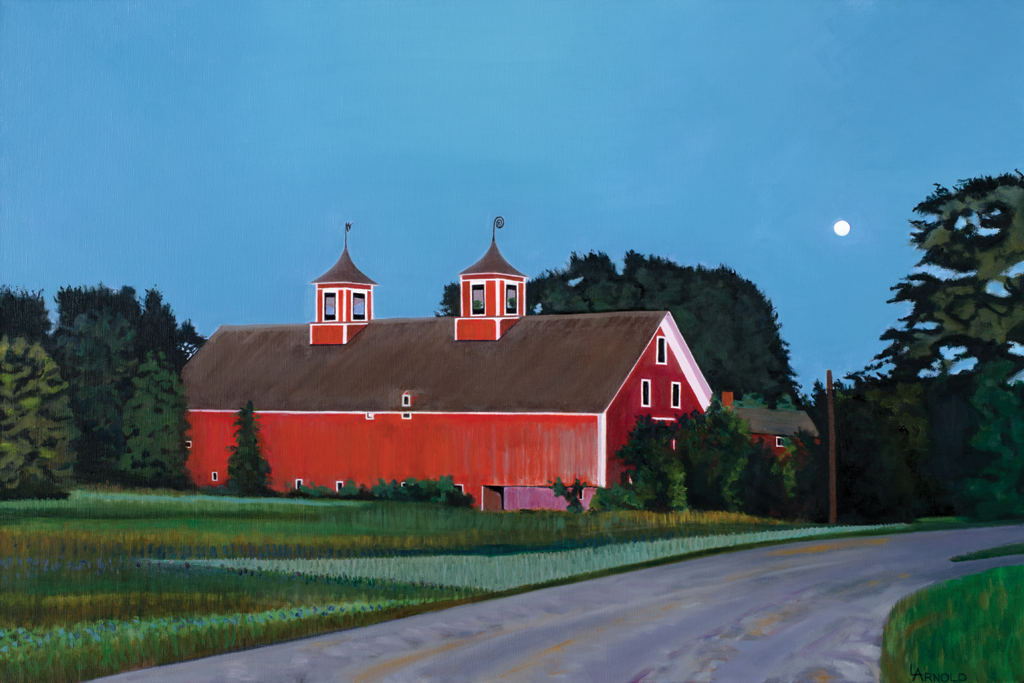 """""""Barn At Dusk"""" by Louise Arnold"""
