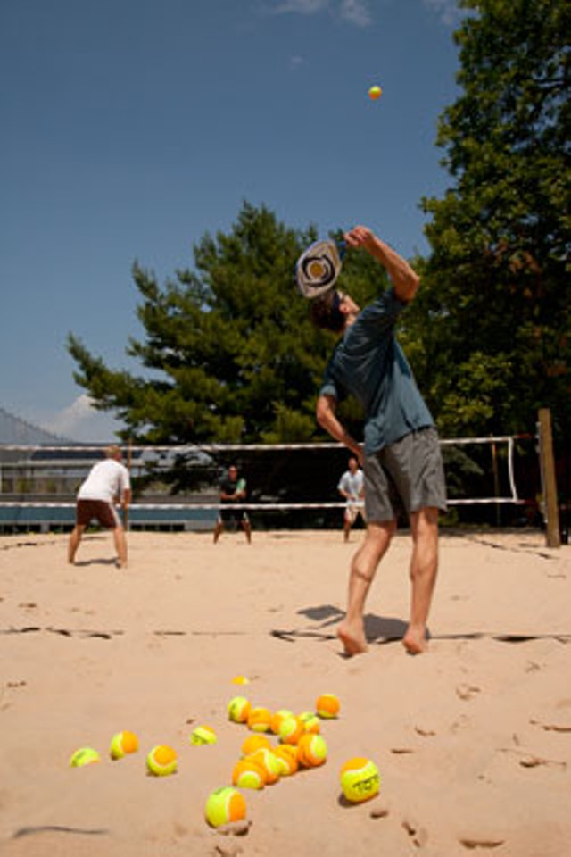 Beach tennis at Dealer.com - MATTHEW THORSEN