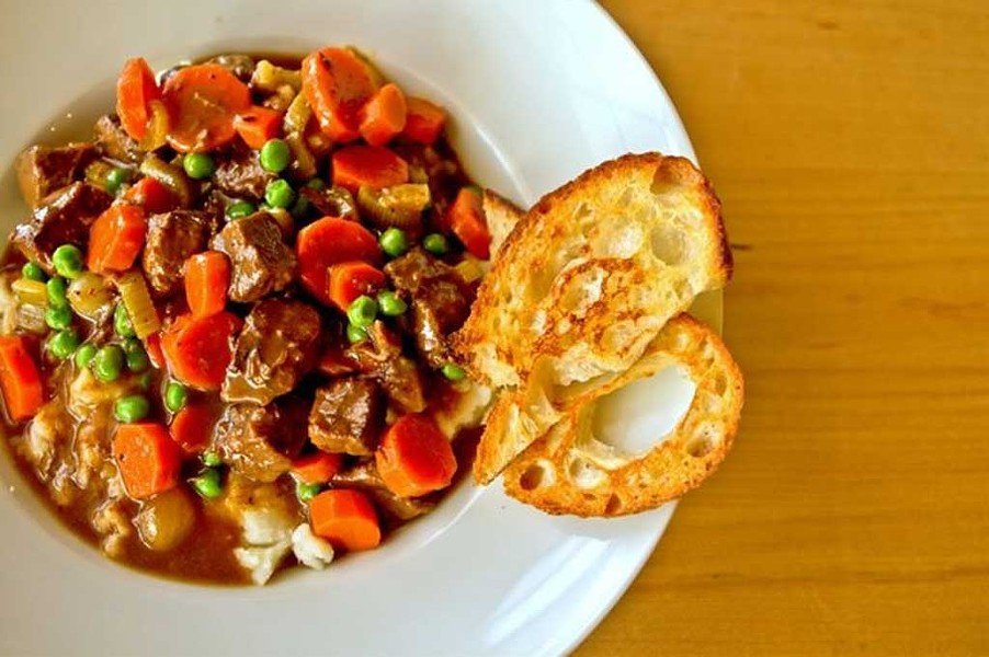 Beef stew at Bayview Eats