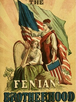 A propaganda poster for the Fenian Brotherhood - COURTESY FENIAN HISTORICAL SOCIETY