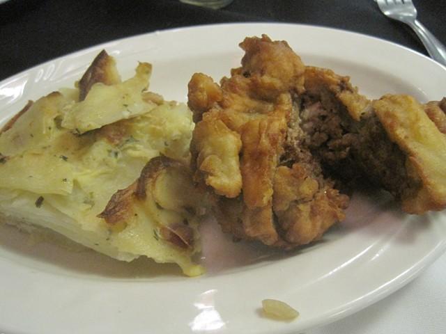 Bela Krajina-style meat dumplings with Alpine Herdsman potatoes