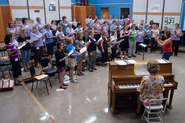 Bella Voce rehearsing at Essex High School - MATTHEW THORSEN