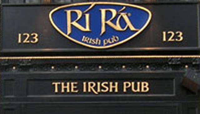 COURTESY OF RIRA IRISH PUB