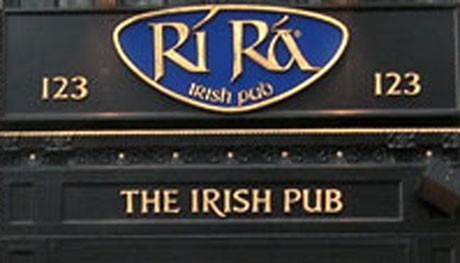 COURTESY OF RIRA IRISH PUB