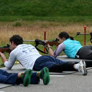 Biathlon trainees at the Ethan Allen Firing Range