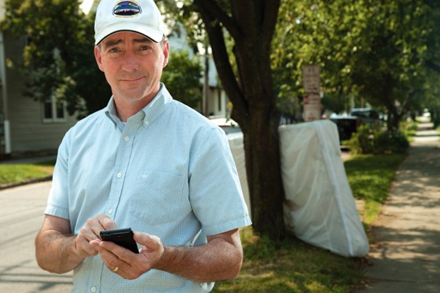 Bill Ward, Burlington's code enforcement director, sometimes picks up discarded needles. - MATTHEW THORSEN
