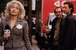 BLONDE AMBITION: Jolie's material girl may have only a week to live, but Stephen Herek's morality tale is DOA
