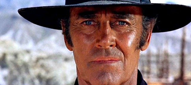 Blue-eyed Henry Fonda as the ruthless killer Frank in Once Upon a Time in the West - PARAMOUNT PICTURES