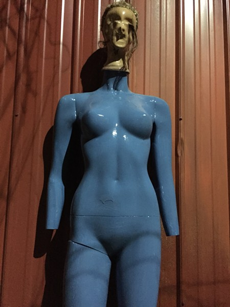 Blue, handless mannequin - COURTESY OF JAKE RIFKEN