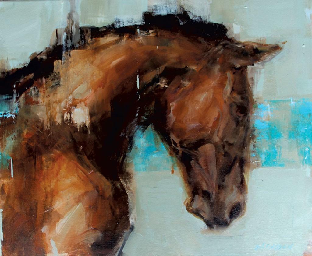 """Blue Horse"" by Georganna Lennsen"