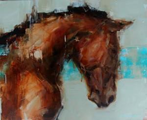 "COURTESY OF WEST BRANCH GALLERY & SCULPTURE PARK - ""Blue Horse"" by Georganna Lenssen"