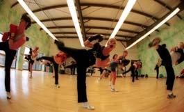BOXING DAY at Twin Oaks, Whislain Deis teaches the ladies to kick some... air - JORDAN SILVERMAN