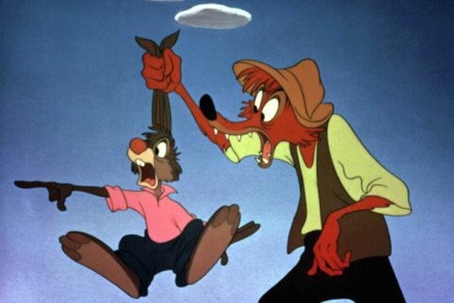 Brer Rabbit meets Brer Fox in Song of the South - WALT DISNEY PICTURES