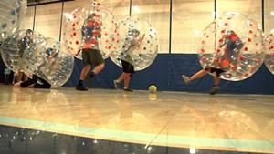 Bubble Soccer at MMU [SIV378]