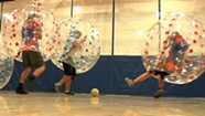 Bubble Soccer at MMU [SIV378]