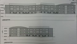 Building sketch by Rabideau Architects submitted to Burlington's Planning and Zoning Department