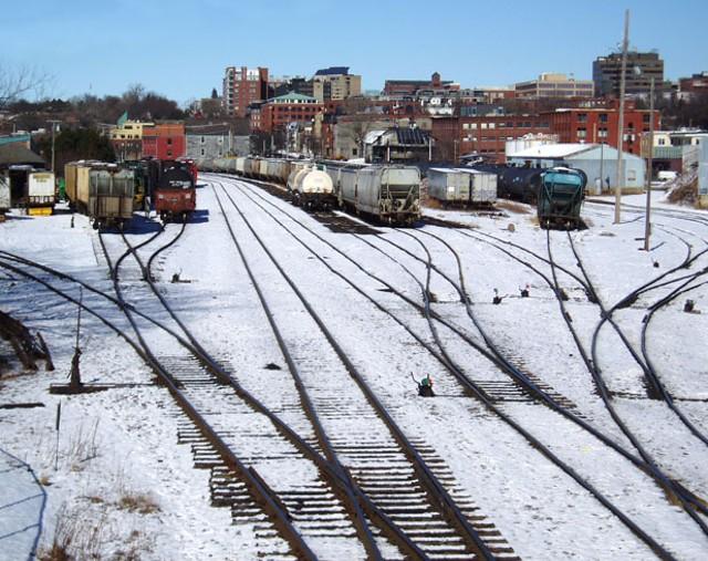 Burlington waterfront rail yard - MATTHEW THORSEN