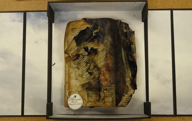 """Burned Book 3/8 English"" by Elaine Spatz-Rabinowitz & Mary McCarthy - DAVID HALE / GODDARD COLLEGE"