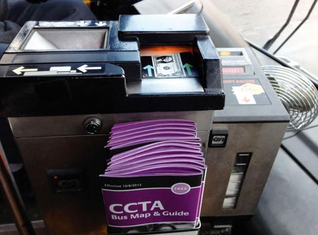 CCTA bus fare box