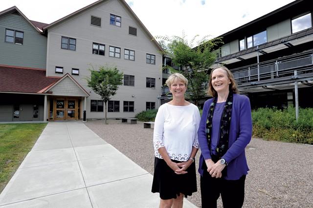 CCV Montpelier associate dean of enrollment Pam Chisholm (left) with CCV Montpelier president Joyce Judy - JEB WALLACE-BRODEUR