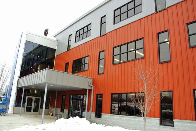 Champlain College's building on Lakeside Avenue