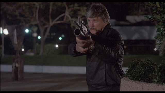 Charles Bronson in Death Wish 4 in a scene from Los Angeles Plays Itself - CINEMA GUILD