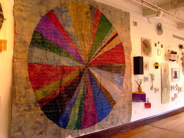 Charles Papillo installation detail