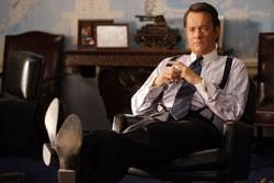 CHARLIE'S ANGLES: Tom Hanks plays a colorful Texas congressman whose secret wheelings and dealings hastened the collapse of the Soviet empire.