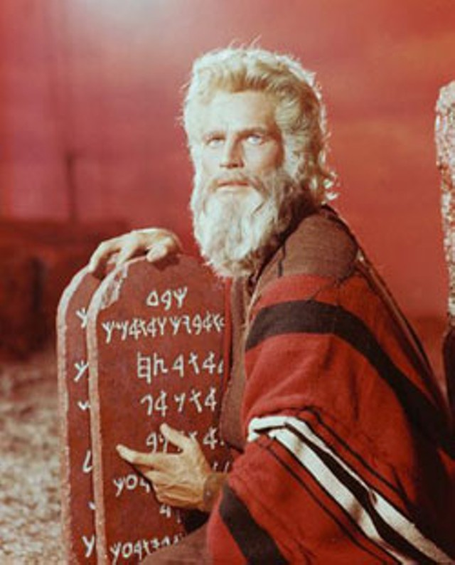 Charlton Heston as Moses in The Ten Commandments, 1956