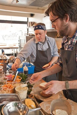Chef-partners Nathaniel Wade and Aaron Josinsky