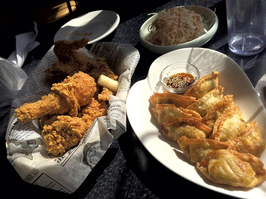 Chicken and mandu at Restuarant Coréen Mon Ami - ALICE LEVITT