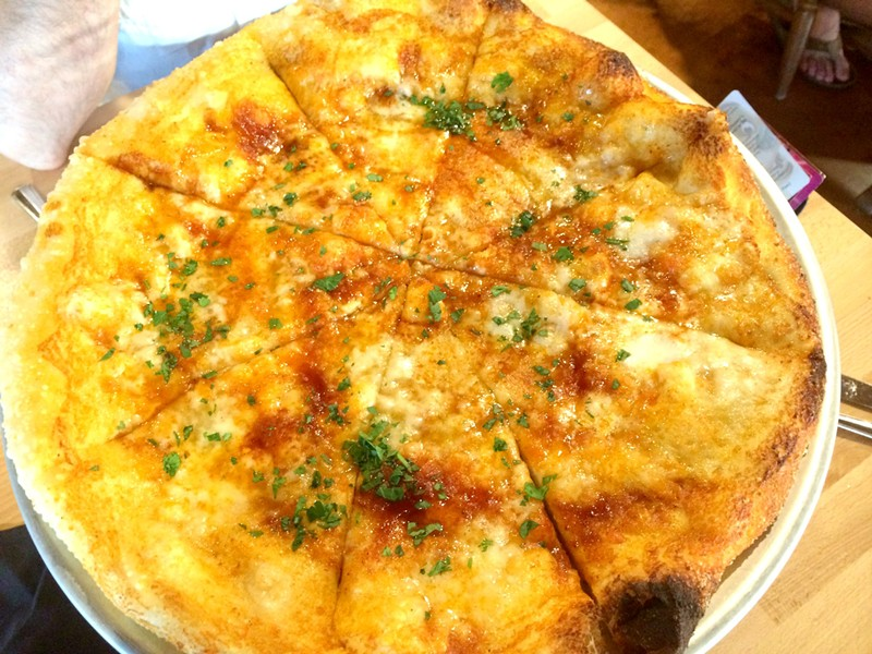 Chipotle & Honey pizza, La Boca Wood Fired Pizzeria, Burlington - ALICE LEVITT