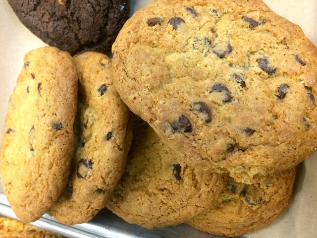 Chocolate chip cookies at Bluebird Coffee Stop at the Innovation Center - ALICE LEVITT