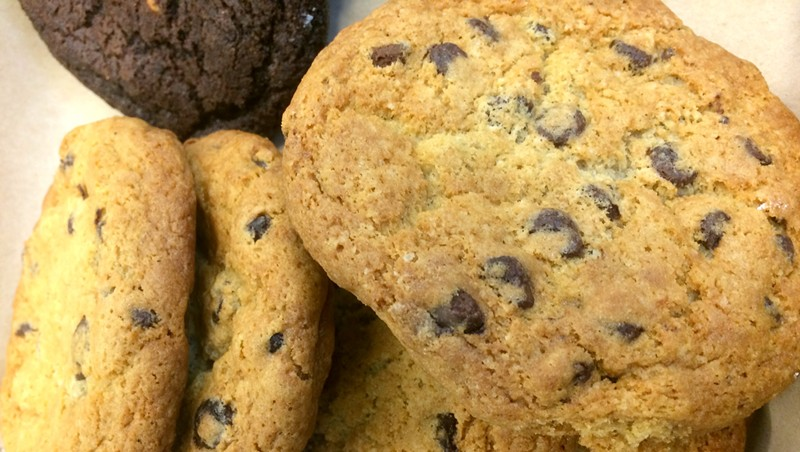 Chocolate chip cookies at Bluebird Coffee Stop at the Innovation Center