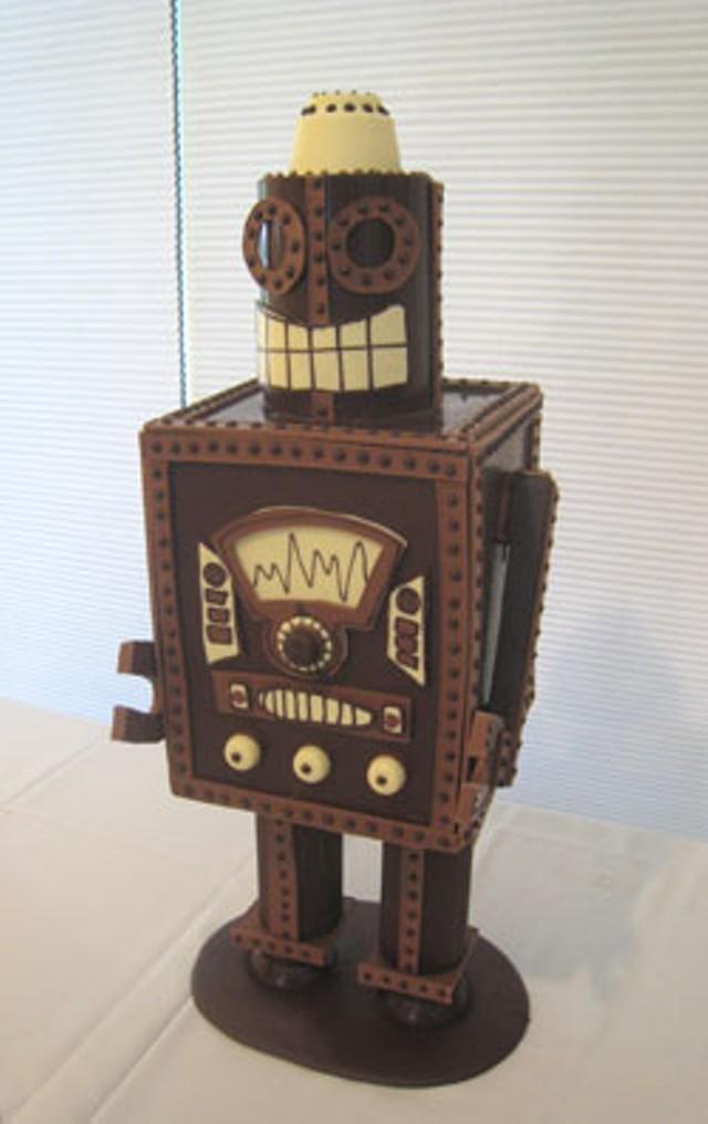 Chocolate Robot by Emily Jones of Lake Champlain Chocolates