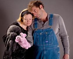 Chris Caswell as Charlotte and Jordan Gullikson as Wilbur.