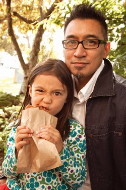 Chris Hechanova with daughter Lena - MATTHEW THORSEN