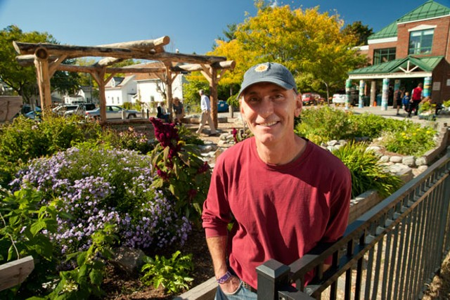 Chris Sharp in front of the outdoor classroom - MATTHEW THORSEN