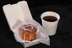 Cinnamon bun and coffee, Little Sweets at Hen of the Wood and Maglianero - MATTHEW THORSEN