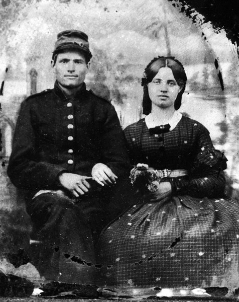 Civil War-era Vermont couple - COURTESY OF VERMONT HISTORICAL SOCIETY